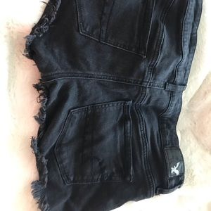 "Black American Eagle ""shorties"" shorts"